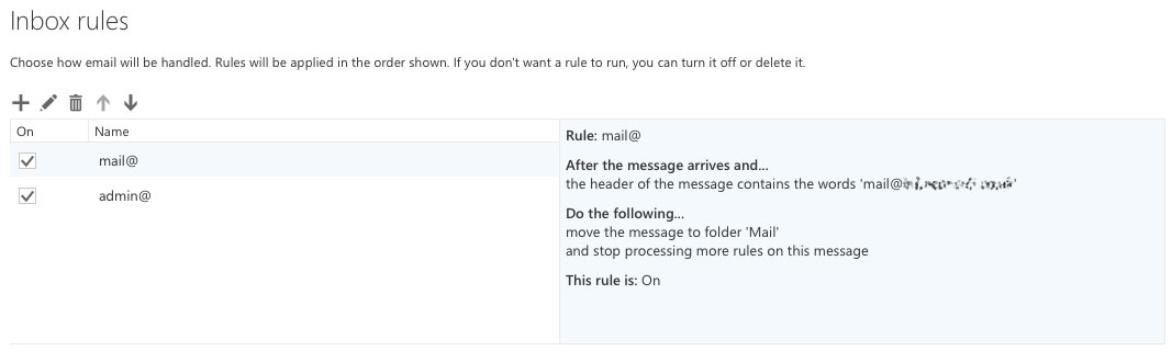 Outlook Webmail Rules with Aliases