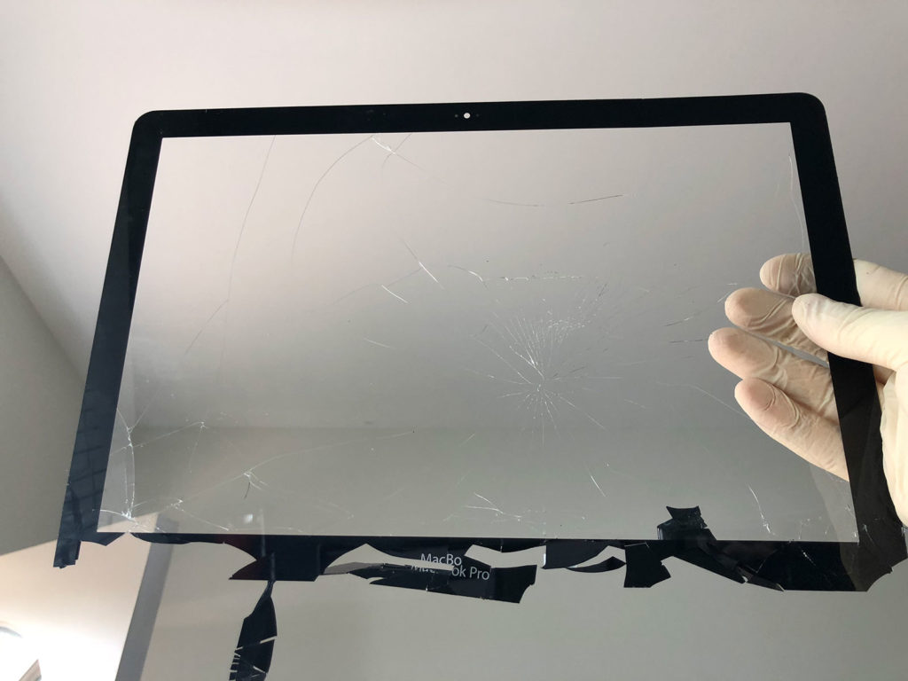 "MacBook Pro 13"" Cracked Glass Removed"